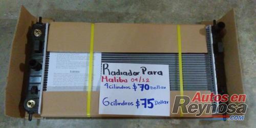 RADIADOR NUEVO DE MALIBU 04/12  EN 4 Y 6 CILINDROS