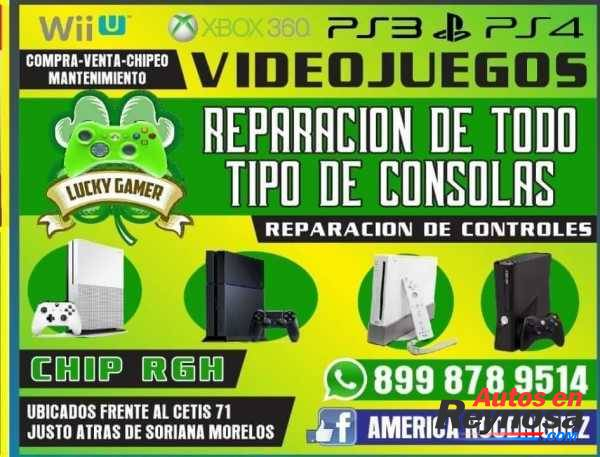 REPARACION DE CONTROLES Y TODO TIPO DE CONSOLAS