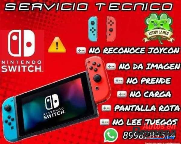 SERVICIO TECNICO ESPECIALIZADO NINTENDO SWITCH REPARACION