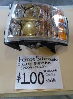 FOCOS DE SILVERADO O GMC SIERRA  07  /  13  AMBOS  LADOS