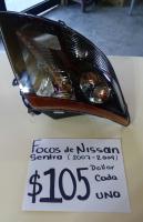 FOCOS  NUEVOS  DE  NISSAN  SENTRA  07  /  09  AMBOS  LADOS