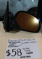 ESPEJOS  ELÉCTRICOS  DE  SILVERADO,YUKON,GMC,SUBURBAN 07/13