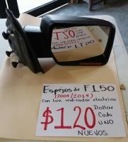 ESPEJOS  ELECTRICOS  NUEVOS  DE F150  04  /  14  CON  LUZ  INDICADOR