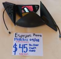 ESPEJOS  ELÉCTRICOS NUEVOS   PARA  MALIBU  04/08 AMBOS  LADOS