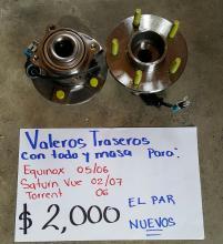 BALEROS TRASEROS DE EQUINOX 05/06 NUEVOS