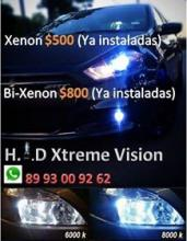 venta de luces HID XENON Y BIXENON 500PESOS INSTALADAS